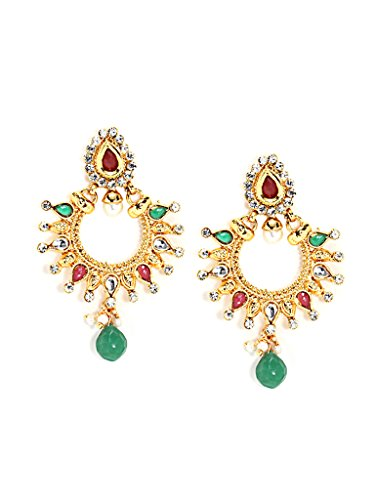 Bindhani Traditional Chandbali Multi-Color Earrings For Women (Chand Bali)  available at amazon for Rs.180