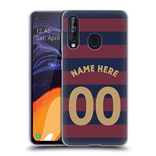 Head Case Designs Personalisierte Individuelle Newcastle United FC NUFC Away Kit 2018/19 Crest Soft Gel Huelle kompatibel mit Samsung Galaxy A60 (2019) -