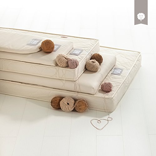 The Little Green Sheep Natural Mothercare Moses Basket Mattress (28 cm x 75 cm)