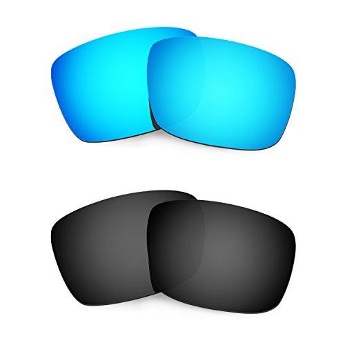 HKUCO Plus Mens Replacement Lenses For Oakley Fuel Cell Sunglasses Blue/Black Polarized