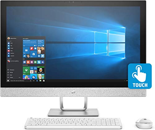 HP AIO Q Series 27 – qa179in -Pavilion 2018 27-inch All-in-One Desktop (8th Gen i7-8700T/16GB/2TB/Windows 10 Home/4 Graphics), Bilzzard White