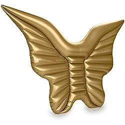 WEALTH Gigante Mariposa alas Flotante Fila, Agua Silla de salón Inflable, Verano Piscina al Aire Libre Fiesta de la balsa de Agua Juguetes para Adultos y niños,Gold