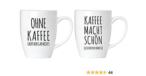 300 ml Kaffeetasse aus Keramik BRUBAKER Ich muss gar nichts!