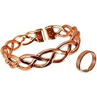 The Online Bazaar Damen Schwer Spitze-Design Magnetischer Kupfer Armband und Glatte Oberfläche kupfer Magnetring... preisvergleich bei billige-tabletten.eu