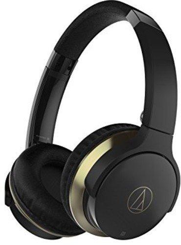 Audio-Technica ATH-AR3BTBK - Auriculares inalámbricos, color negro y oro