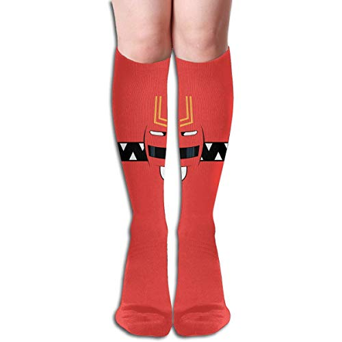jiilwkie Power Rangers Design Elastic Blend Long Socks Compression Knee High Socks (65cm) for Sports