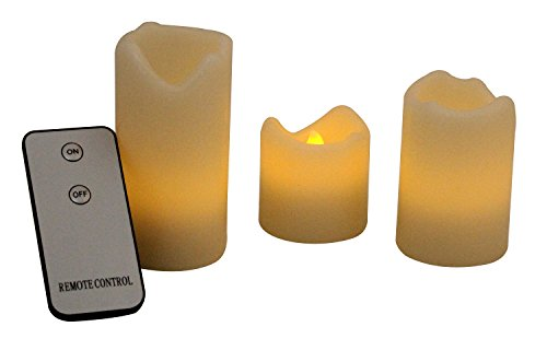 Set de velas led con mando a distancia Moon Candles 066