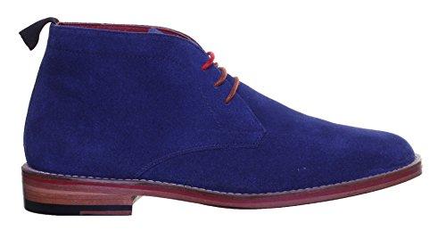Justin Reece Thomas pour homme en daim Desert Chaussures Taille UK Bleu - Navy SS19