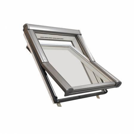 Dachfenster aus Kunststoff Roto mit Eindeckrahmen und Wärmedämmung (54x98)