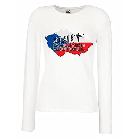 Manches longues Femme T-shirt Evolution Football - Czech Republic (Medium