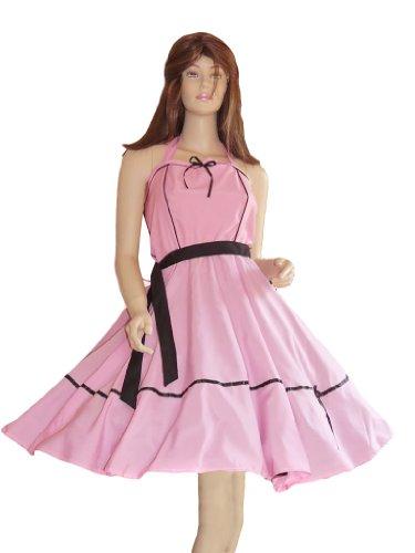 Dancing Baby Dirty Kostüm - Kleid Kleider für Petticoat Petticoats Pettycoat 50er 60er schwarz rosa Gr. S und M K09
