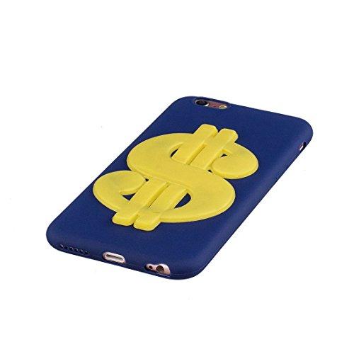 iPhone 6S Custodia, case Paraurti dassorbimento con TPU Back-Anti-Scratch Cover ( 3D Cartoon Gufo + rosa ) iPhone 6/6s Copertura Shell 4.7 blu reale 1