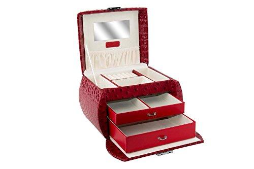Portagioie donna RENATO BALESTRA rosso baule portagioielli in similpelle T338