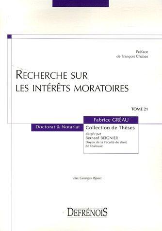 Recherches sur les intérêts moratoires