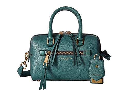 Marc Jacobs - Small Recruit Bauletto, Bolsos de mano Mujer, Green (Hazy Blue), 16x12x25 cm (W x H L)