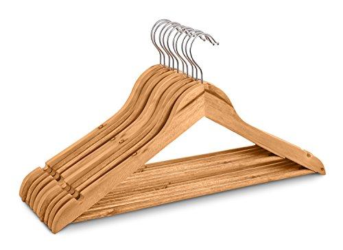 Highliving, 20Stück hochwertige Kleiderbügel aus Holz für