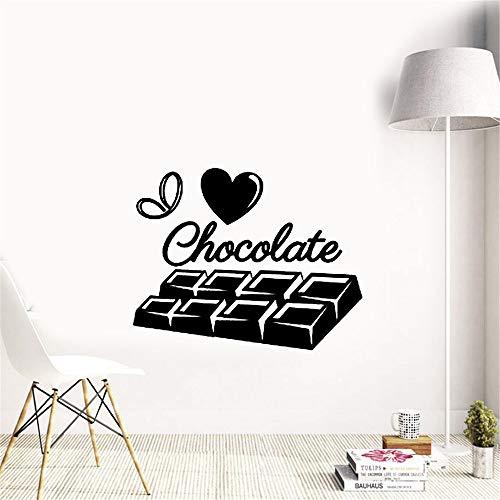 Wandtattoo Kinderzimmer Wandtattoo Schlafzimmer Ich liebe Schokoladen-süße Mädchen-Raum-Küche Küche Schokolade