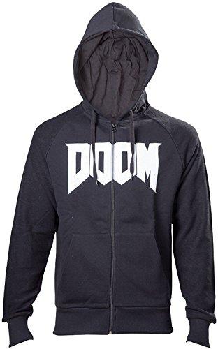DOOM T-Shirt -M- Logo, schwarz schwarzer Hoodie mit Logo