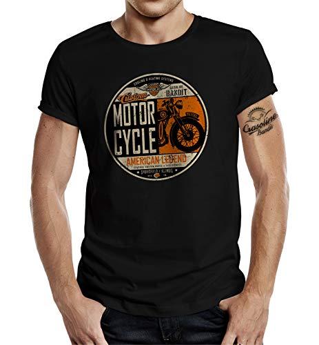 Biker Racer T-Shirt: American Legend 2XL - American Heavyweight T-shirt