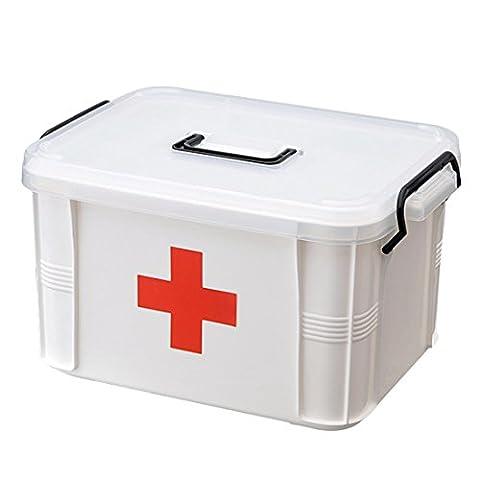 Enerhu Boîte à Pharmacie Trousse à Médicament 2 Couches Spacieuses L