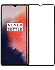 POPIO Tempered Glass Screen Protector For Oneplus 7T (Black) Edge to Edge Full Screen Coverage With Installation Kit
