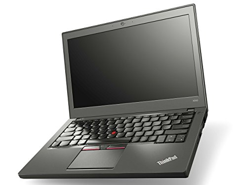 'Lenovo ThinkPad X250 - PC portatile - 12.5 HD - Nero (Intel Core i5 - 5300U/2.30 GHz, 4 GB di RAM, Disco SSD 120 GB, Webcam, Windows 10 professionale)
