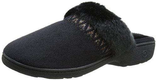 Isotoner 03321 Donna US 6.5 Nero Pantofole