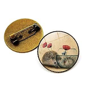 Bongles Emaille-Revers-Stifte Igel-Brosche Für Frauen Für Kleidung Taschen Rucksäcke Jacken Hut DIY