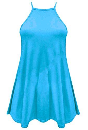 Fast Fashion - Débardeur Sans Manches En Viscose Plaine Swing De Maillot Cami - Femmes Neuf Turquoise