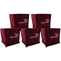 Homecrop Fabric Square Grow Bags for Terrace Garden - Smart Plant Grow Bags (6 * 6 inch) - Set of 5