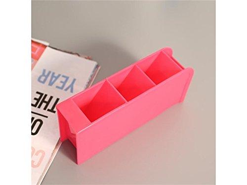 Fournitures pour la maison Générique Vert 4 Compartiments Crayons Stylos Boîte De Rangement Cosmétique Sous-Vêtements Bureau Bar Organisateur Bureau Boîtes (Rose Rouge) Accessoires pour la maison