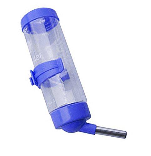 125 ml Leak Proof Water Bottle for Hamster / Dwarf / Gerbil / Mice / Guinea Pig / Ferret / Rabbit (Blue)