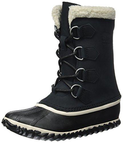 Sorel Caribou Slim, Botas de Nieve para Mujer, Negro (Black), 38 EU