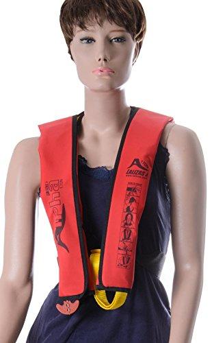 wellenshop Rettungsweste Lalizas Alpha 170N Erwachsene manuelle Auslösung rot ab 40 kg -