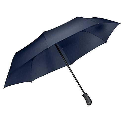 Ombrello Pieghevoli Antivento Automatico, [One Hand Open & Close], Tquens Compatto Antivento Ombrello con 41.5 Inch Wide Canopy Extra, Robusto Ombrello per esterno da viaggio - Blu marino (000EH21743)