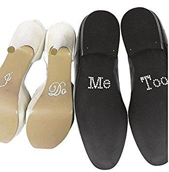'F & H clest (R) Hochzeit Dekoration Set von I Do und Me Too Strass Schuh Aufkleber Sliver White