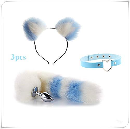 ieyol Party Cosplay Costume Cat Ears Hair Hoop Headband heart ring choker Fox Tail B-¨¹tt an-?l Pl-¨´g T-?-ys