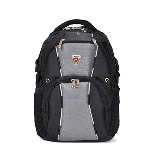 Rucksack Studenten Rucksack Laptop-Tasche Doppel gray