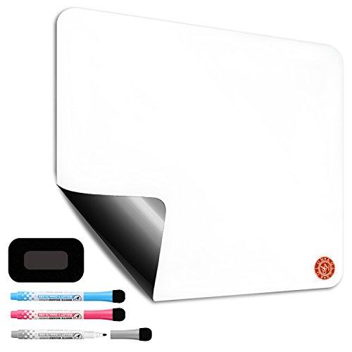 Aolun Magnettafel,Magnetische trocken abwischbare Board für Kühlschrank, mit schmutzabweisend Technologie inklusive 3 Magnetischer Dry Erase Marker und Big eraser-43x27.9cm