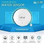 Lvein Sensore d'Acqua Smart Z-Wave, inondazioni e rilevatori di perdite-Allarme e notifiche App LED Lampeggia Compatibile con la Serie Z-Wave 300 e l'automazione Domestica della Serie 500
