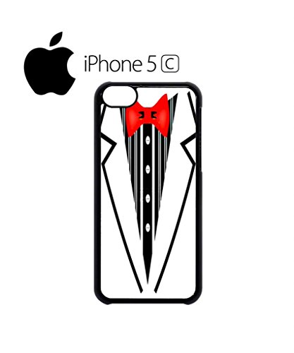 Tuxedo Suit Bow Tie Fancy Dress Party Cool Funny Hipster Swag Mobile Phone Case Back Cover Hülle Weiß Schwarz for iPhone 5c White Weiß
