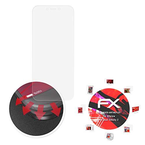 atFolix Schutzfolie passend für Allview X4 Soul Infinity Z Folie, entspiegelnde & Flexible FX Bildschirmschutzfolie (3X)