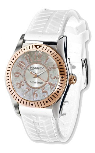 Haurex Italy 1D331DWH Womens Promise White Dial Watch