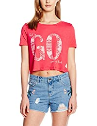 VERO MODA Damen T-Shirt Vmtravel Ss Cropped Top Box