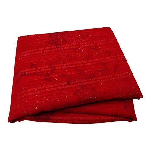 PEEGLI Frau Wickeln Vintage Rot Saree Traditionell Party Tragen Bestickt Designer Georgette Chiffon Stoff Wickeln Sari Designer-chiffon Sarees