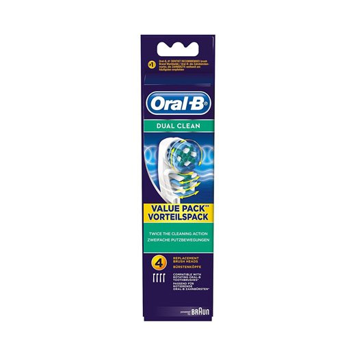 Teste Oral-B Dual Clean Brush Heads With Pack of 4 & Freshening Gum Care by acropolebits