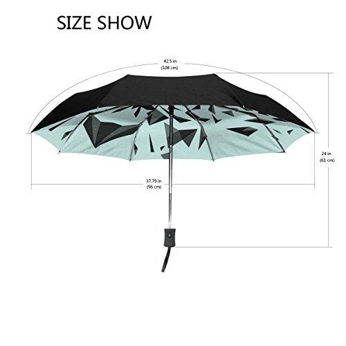 Bennigiry Tigre coupe-vent et étanche Voyage Compact Parapluie - Auto ouvrir fermer Parapluie pliable robuste et léger facile à transporter Parasol pour homme femme Taille unique Color#002