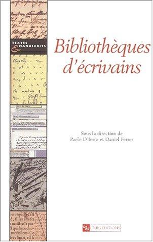 Bibliothèques d'écrivains (Textes et manuscrits)