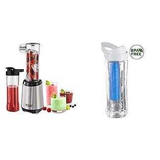 Russell-Hobbs-23470-56-MixGo-Steel-Standmixer-Smoothiemaker-inkl-2-Trinkflaschen-und-1-Trinkflasche-mit-Khlakku-300-Watt-edelstahl