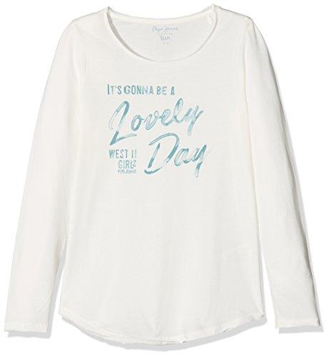 Pepe Jeans Mädchen T-Shirt Yara Teen, Weiß (Off White), Small (Weiße Jeans Mädchen)